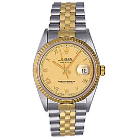 Rolex Datejust 16233 2-Tone Steel & Gold Roman Dial 36mm Mens Watch
