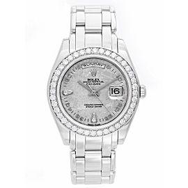 Rolex Masterpiece/Pearlmaster 18946 Platinum 39mm Mens Watch