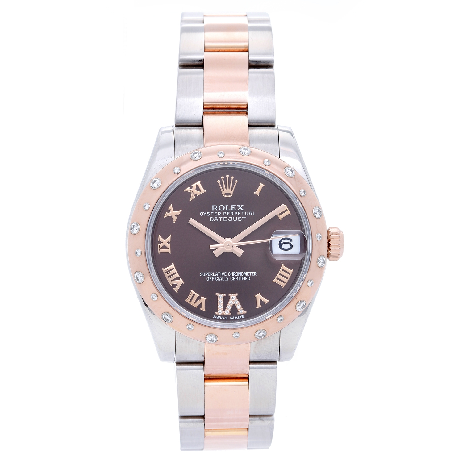 """Image of """"Rolex Datejust 178341 Stainless Steel & 18K Rose Gold Diamond 31mm"""""""