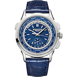 Patek Philippe 18K White Gold / Leather Automatic 39.5mm Mens Watch