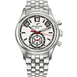 Patek Philippe 5960-1A Stainless Steel with Silver Dial 40.5mm Mens Watch