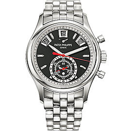 Patek Philippe 5960-1A Stainless Steel with Black Dial 40.5mm Mens Watch