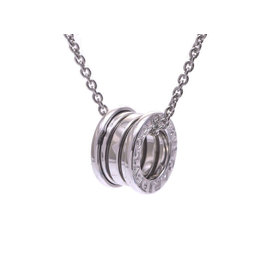 Bulgari 18K White Gold B-Zero Necklace