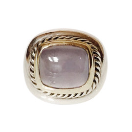 David Yurman Sterling Silver 14K Yellow Gold Chalcedony Albion Ring Size 6.5