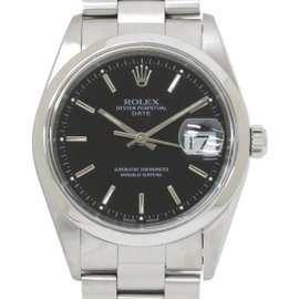 Rolex Oyster Date 15200 Stainless Steel Black Dial Automatic 35mm Men's Watch