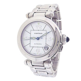 Cartier Pasha 2308 18K White Gold White Dial Automatic 35mm Men's Watch
