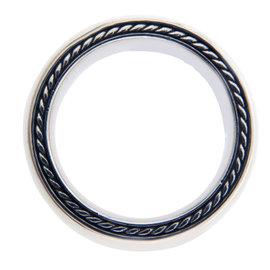 David Yurman 925 Sterling Silver Plain Band Ring Size 10