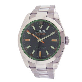 Rolex Milgauss 116400 Stainless Steel Green Dial Automatic 40mm Men's Watch