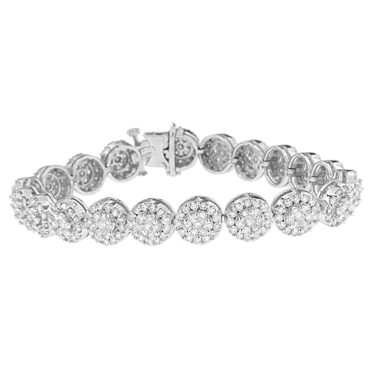 "Image of ""14K White Gold 9.5 ct. TDW Round-cut Diamond Bracelet"""