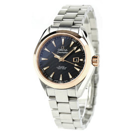 Omega Seamaster Aqua Terra Pink Gold / Stainless Steel with Black Dial Automatic 34mm Mens Watch