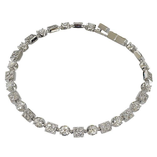 "Image of ""Bulgari 18K White Gold & 83P Diamonds Bracelet"""