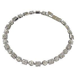 Bulgari 18K White Gold & 83P Diamonds Bracelet