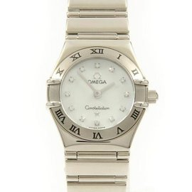 Omega Constellation 1163.76 White Gold and Stainless Steel 22.5mm Womens Watch