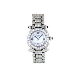 Chopard Happy Sport Stainless Steel & Diamond 26mm Womens Watch
