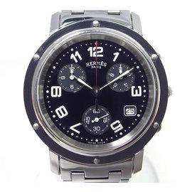Hermes Clipper CL1.910 Stainless Steel Quartz 38mm Mens Watch