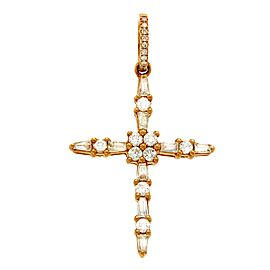 18K Rose Gold 0.66ct Diamond Cross Pendant