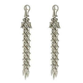 Stephen Webster 925 Sterling Silver & 14K Gold Diamond Drop Earrings