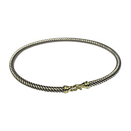 David Yurman 18K Yellow Gold and Sterling Silver Cable Buckle Bracelet