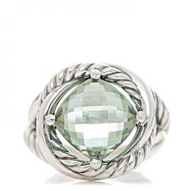 David Yurman Infinity with Prasiolite Ring Size 6.5