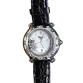Chopard Happy Sport Stainless Steel Leather & Diamond 32.50mm Watch