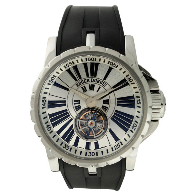 "Image of ""Roger Dubuis Excalibur Stainless Steel & Rubber 42mm Watch"""
