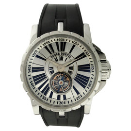 Roger Dubuis Excalibur Stainless Steel & Rubber 42mm Watch