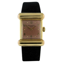 Patek Philippe 18K Yellow Gold Manual Wind Vintage Mens Watch