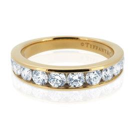 Tiffany & Co.18K Yellow Gold 3.9mm Diamond 0.81ct Wedding Band Ring Size 7