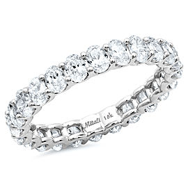 18K White Gold with 2.30ct Diamond Eternity Band Ring Size 5