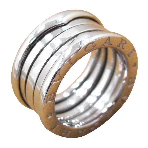 "Image of ""Bulgari 18K White Gold B Zero One Ring Size 4.5"""
