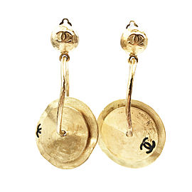 Chanel Gold-Tone Tingsha Handbell Vintage Clip-on Earrings
