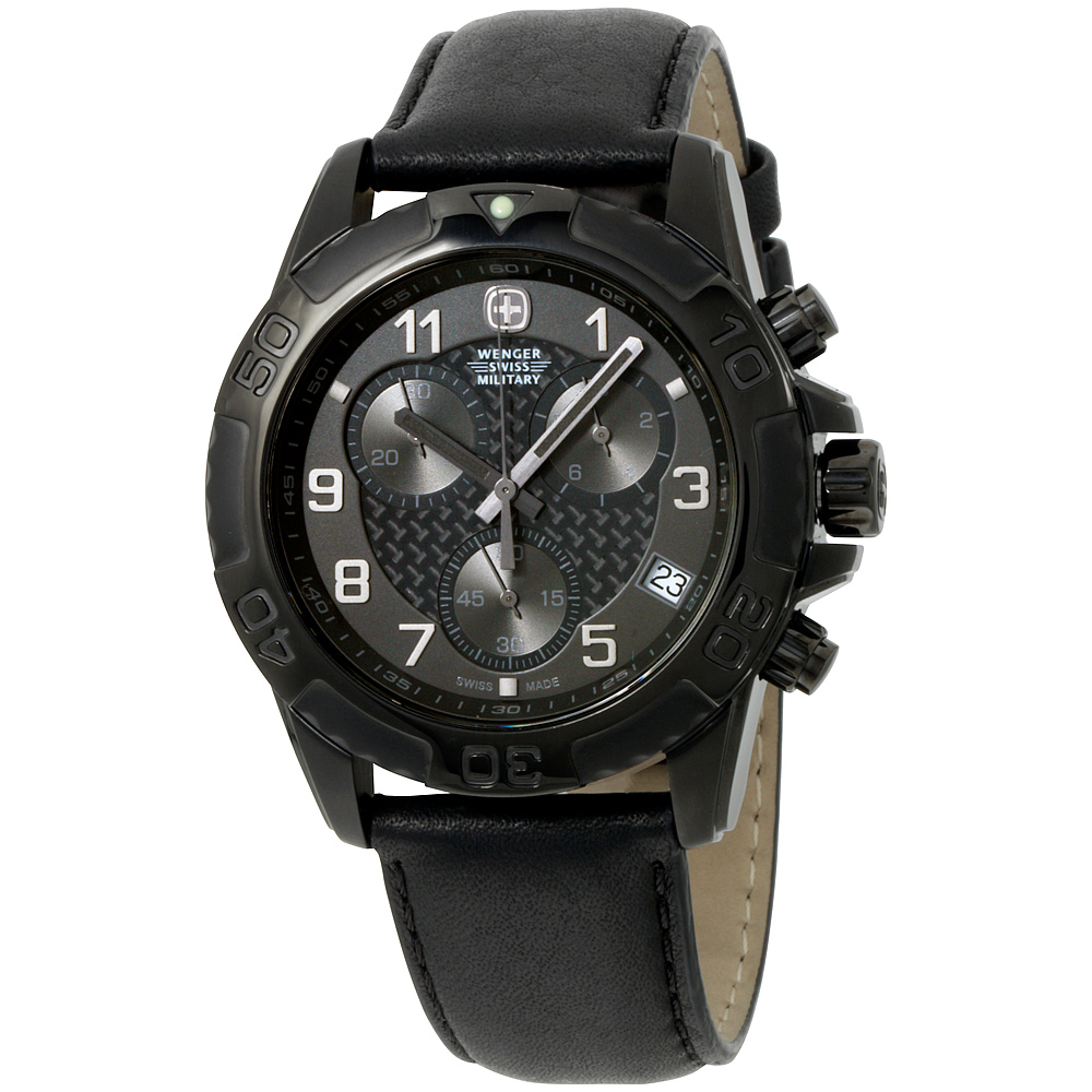 """Image of """"Wenger 79265 Swiss Army Military Stainless Steel Black Dial Black"""""""