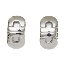 Bulgari 18K White Gold Parentesi Earrings