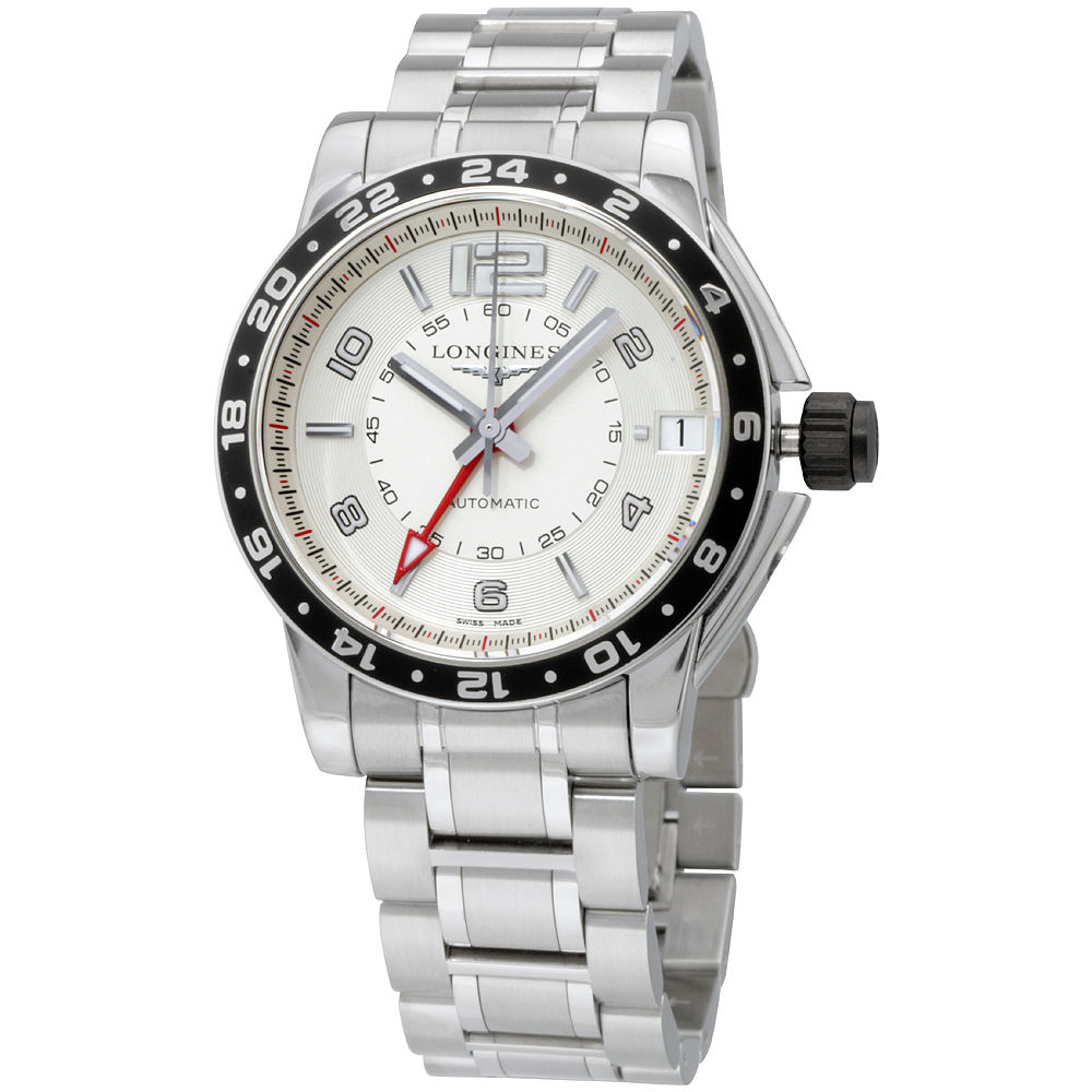"Image of ""Longines Admiral L36684766 Stainless Steel 42mm Mens Watch"""