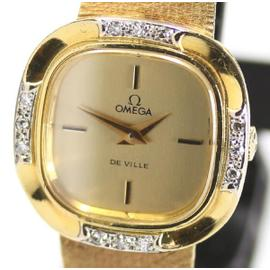 Omega De Ville 18K Yellow Gold & Diamond 23mm Womens Watch