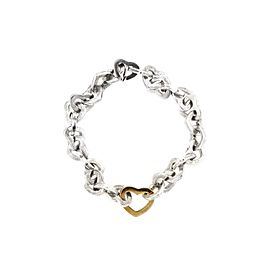 Tiffany & Co. 18K Yellow Gold & Sterling Silver Hearts Bracelet