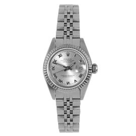 Rolex Stainless Steel Datejust Silver Roman Dial Watch