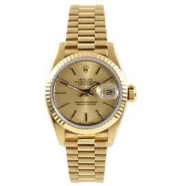 Rolex 18K Yellow Gold President Champagne Stick Dial Watch