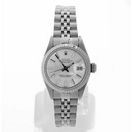 Rolex Stainless Steel Datejust Silver Stick Dial Watch