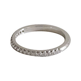 Tiffany & Co. Platinum & .17ct Diamond Ring Size 6