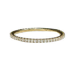 18K Yellow Gold with 0.25ct. Diamond Eternity Band Ring Size 6.5