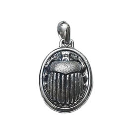 David Yurman Sterling Silver Petrvs Scarab Amulet Pendant