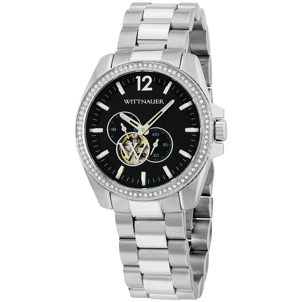 "Image of ""Wittnauer Wn3029 Stainless Steel Automatic 44mm Mens Watch"""
