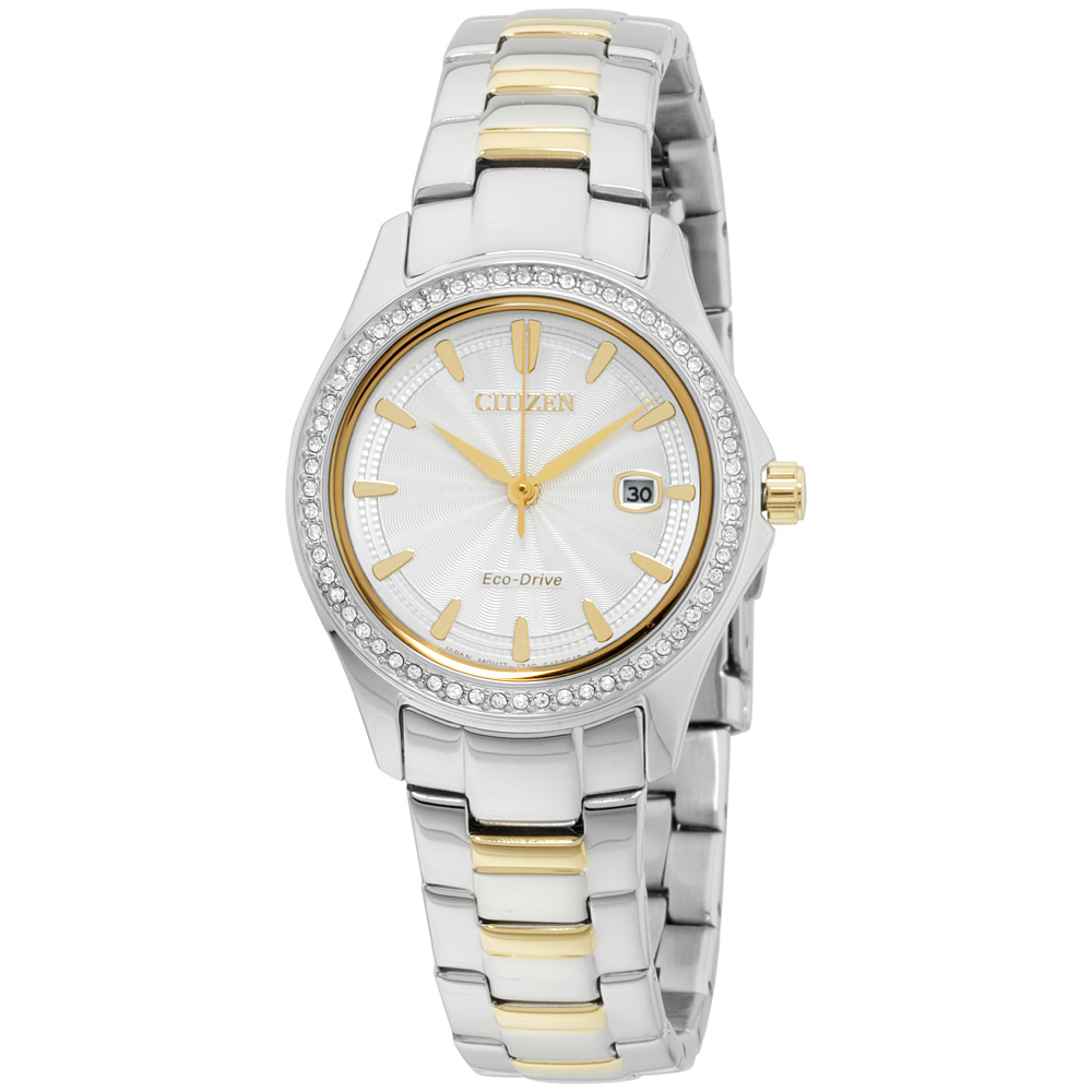"""Image of """"Citizen Eco Drive Fe1146-69A Two Tone Stainless Steel with Diamonds"""""""