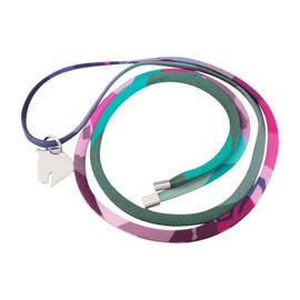Hermes Horse Head Tourbillon Silk Multicolor Necklace
