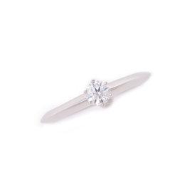 Tiffany & Co. 950 Platinum 0.23ct Diamond Ring Size 5.75