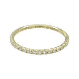 Tiffany & Co. 18K Yellow Gold Diamond Ring Size 4.5