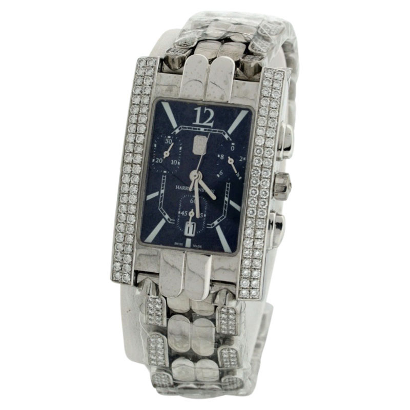 "Image of ""Harry Winston Avenue 18K White Gold 41mm Womens Watch"""