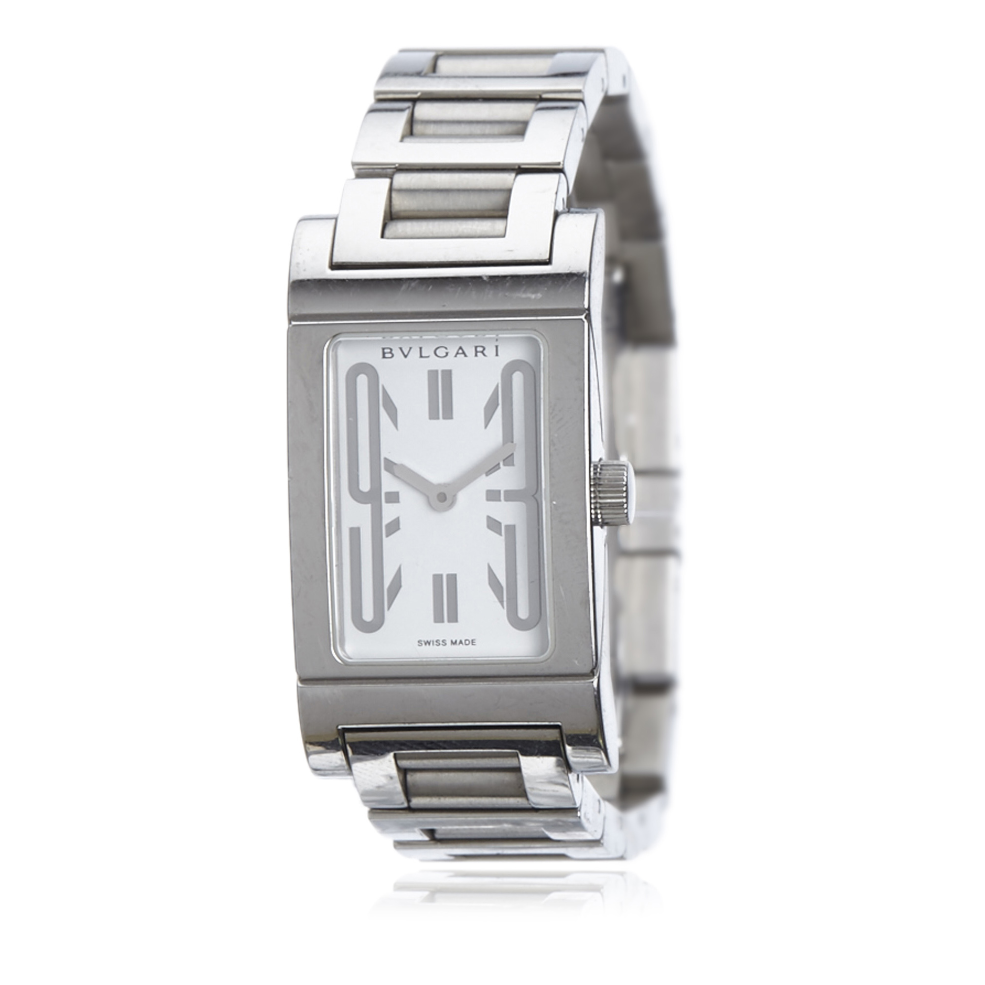 "Image of ""Bulgari Stainless Steel White Dial Quartz 25mm Womens Watch"""