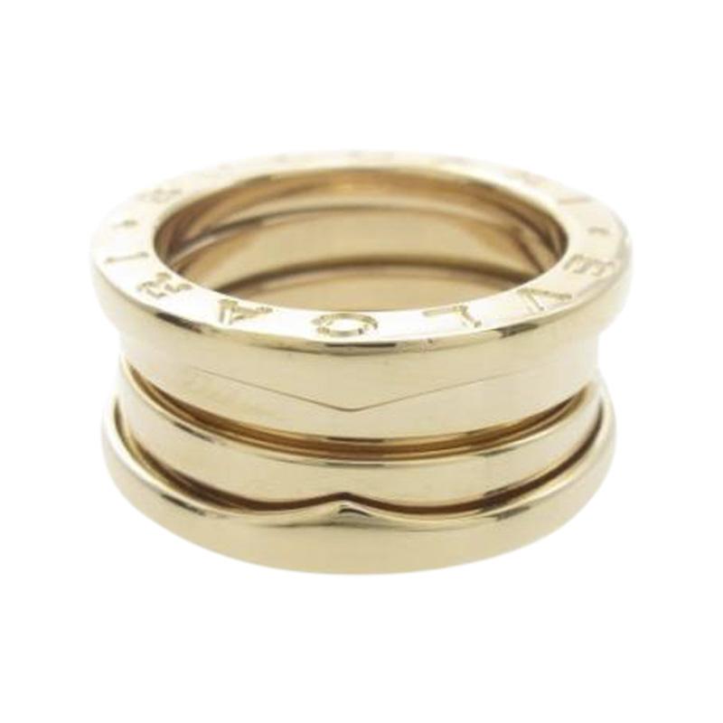 "Image of ""Bulgari 18K Pink Gold B.zero1 3 Band Ring Size 4"""